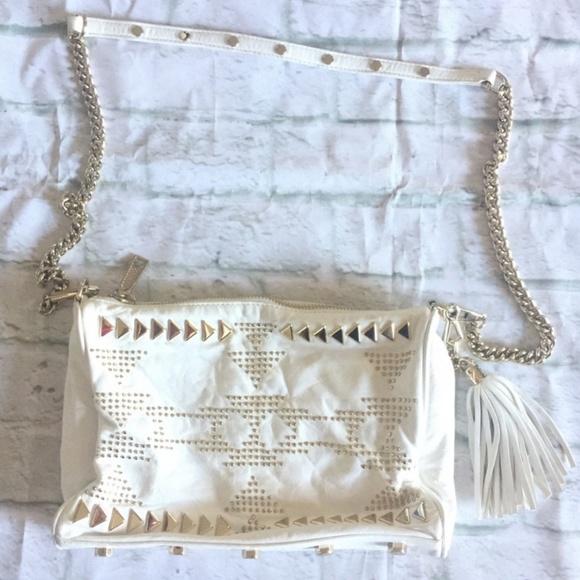 Rebecca Minkoff Handbags - Rebecca Minkoff Cream/Leather/Gold Hardware Bag